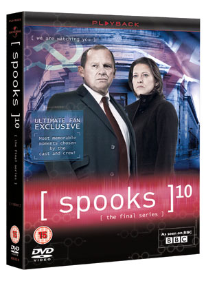Spooks Series 10 DVD pack shot
