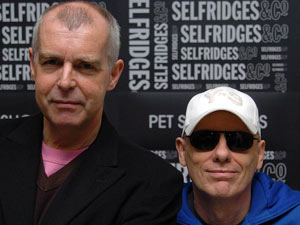 Neil Tennant, left, and Chris Lowe of the Pet Shop Boys