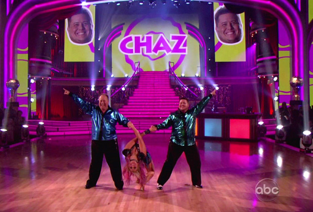 Chaz Bono and Lacey Schwimmer