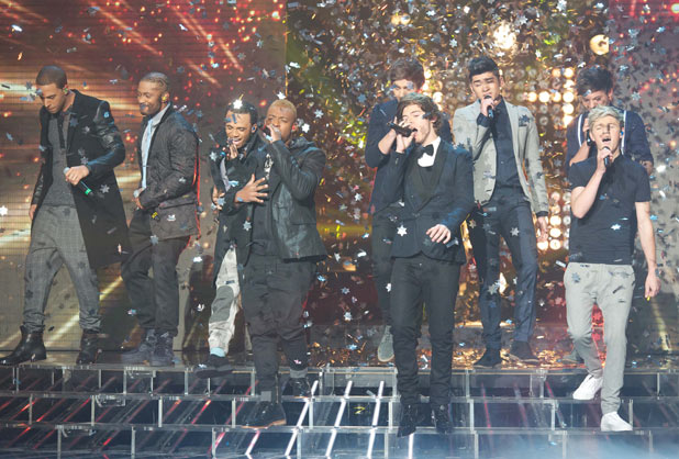 The X Factor: JLS and One Direction guest on The X Factor single