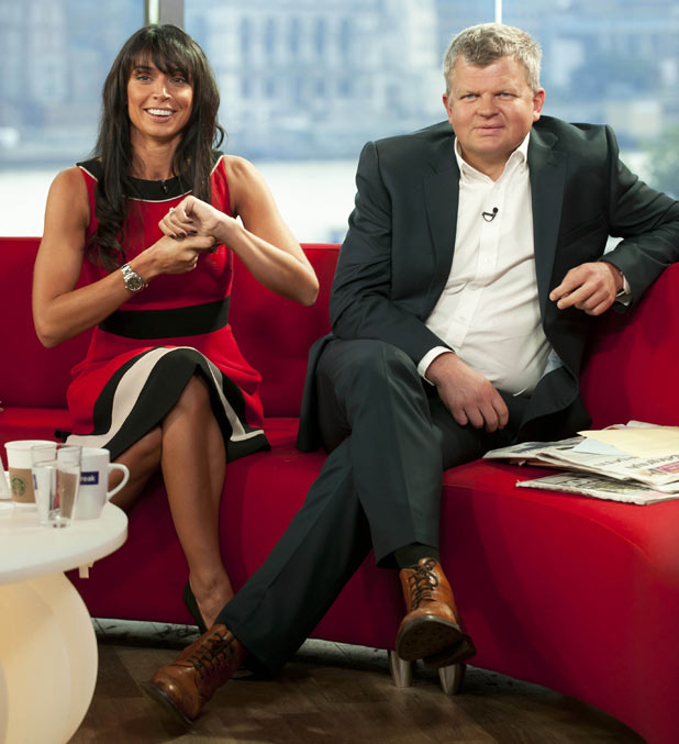 Adrian Chiles and Christine Bleakley on &#39;Daybreak&#39;
