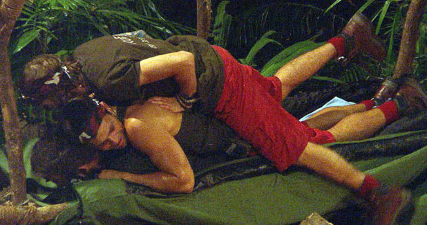 'I'm a Celebrity': Mark Wright and Dougie Poynter jump on Pat Sharp