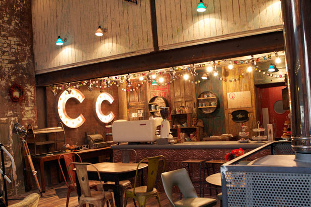 Hollyoaks lovely new Coffee Shop - Introducing College Coffee
