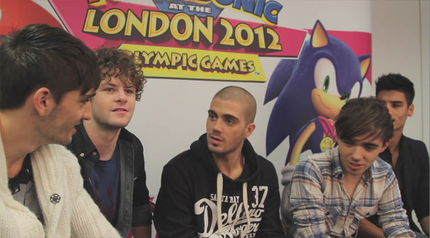 The Wanted play Mario & Sonic