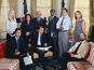 West Wing cast reunites in spoof - watch