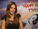Sofia Vergara on dancing to Pitbull and making her Happy Feet Two penguin sexy.
