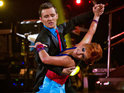 The McFly singer and his partner Aliona Vilani win the group dance-off.