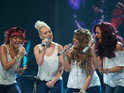 The girl band move Kelly Rowland to tears singing Christina Aguilera's 'Beautiful'.