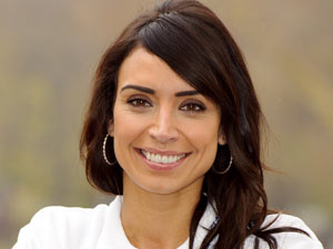 Christine Bleakley promoting Barclays 'Cycle into Work' initiative in London