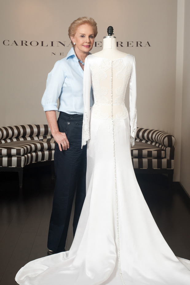 Wedding dress designer Caroline Herrera