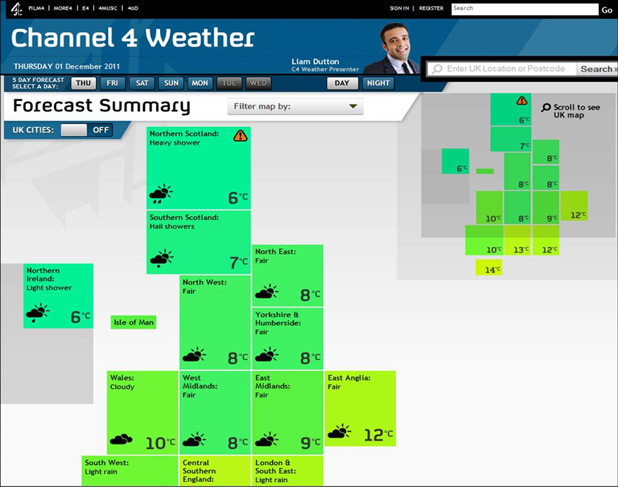 Channel 4 new weather service