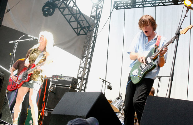 Thurston Moore, right, and Kim Gordon of Sonic Youth