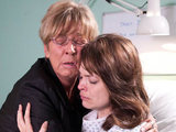 Deirdre comforts Tracy in hospital as she receives news about the twins