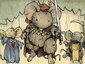 The publisher unveils Mouse Guard, Labyrinth and Other Stories.