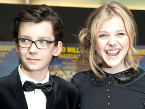 Martin Scorsese's 'Hugo' Royal performance: British actor Asa Butterfield and U.S actress Chloe Moretz