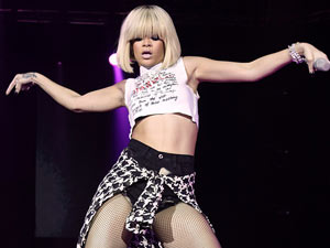 Rihanna performs at the Capital FM Jingle Bell Ball