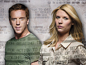 "Homeland: Damian Lewis as Nicholas ""Nick"" Brody and Claire Danes as Carrie Mathison"