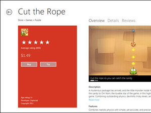 The new Microsoft Windows 8 store screenshot