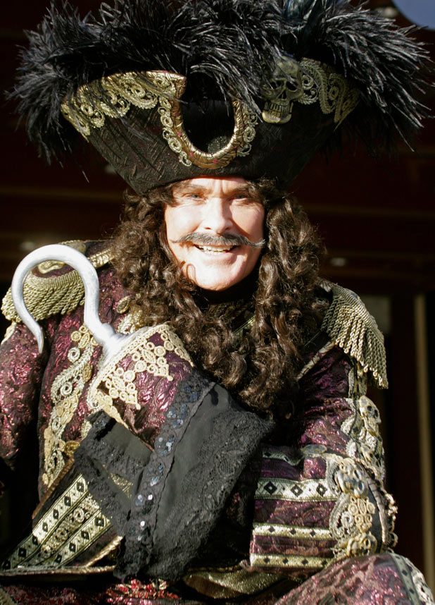 David Hasselhoff as Captain Hook during a 'Peter Pan' pantomime photocall, Bristol Hippodrome