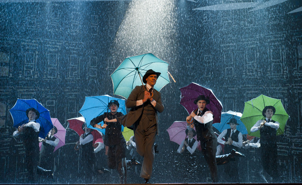 Adam Cooper and the cast of Singing in the Rain