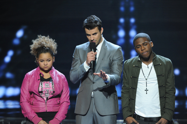 X Factor USA top 5 results show gallery: Steve with Rachel and Marcus