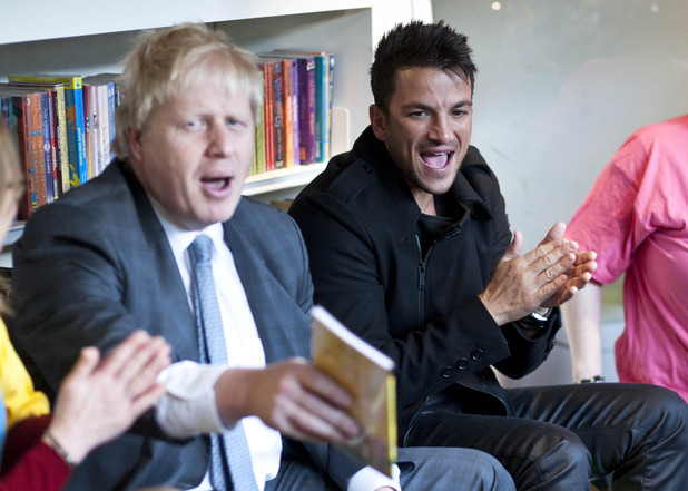 Boris Johnson and Peter Andre