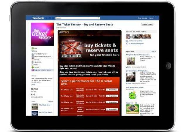 The X Factor Facebook ticketing app