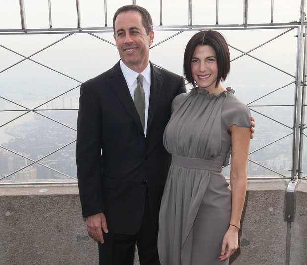 Jerry Seinfeld and Jessica Seinfeld light the Empire Statein honour of Baby Buggy. New York City, USA - 05.12.11 Mandatory Credit: PNP/ WENN.com