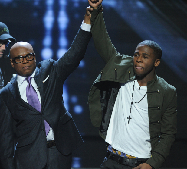 X Factor USA top 5 results show gallery: LA congratulating Marcus