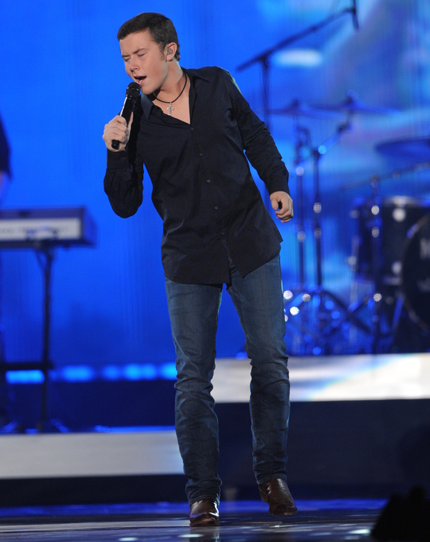 American Idol winner Scotty McCreery at the American Country Awards 2011 on Fox