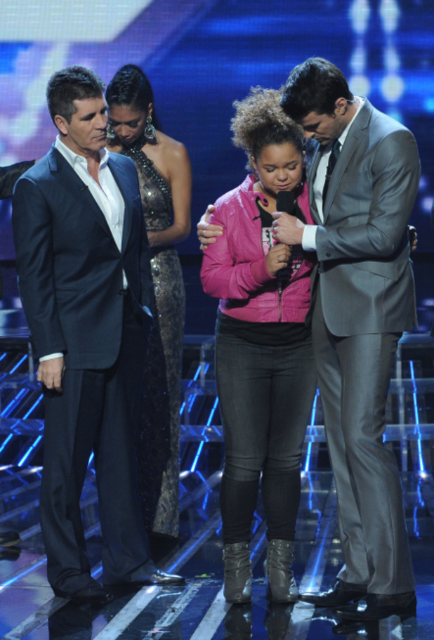 X Factor USA top 5 results show gallery: Simon with Rachel and Steve