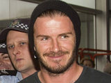 David Beckham arrives at Melbourne International Airport