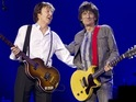 Paul McCartney is joined on stage by Ronnie Wood at O2 arena show.