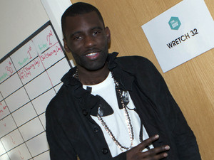 Wretch 32 behind the scenes Hollyoaks