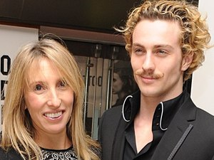 'The Girl With The Dragon Tattoo' London premiere: Sam Taylor-Wood and Aaron Johnson