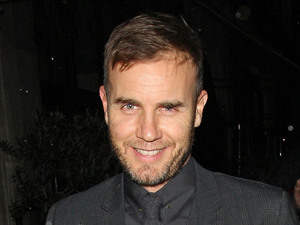 Gary Barlow leaving Scott's restaurant after dining with David Walliams and Lara Stone London, England