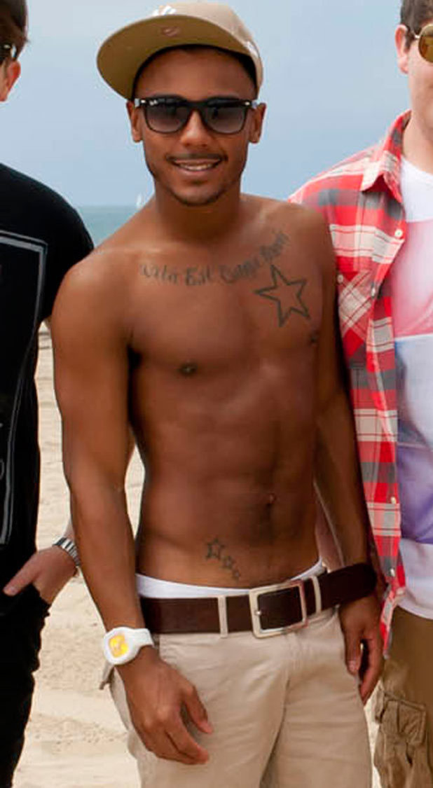 Marcus Collins shirtless
