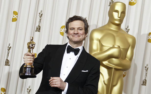 Colin Firth with his Oscar for Best Actor