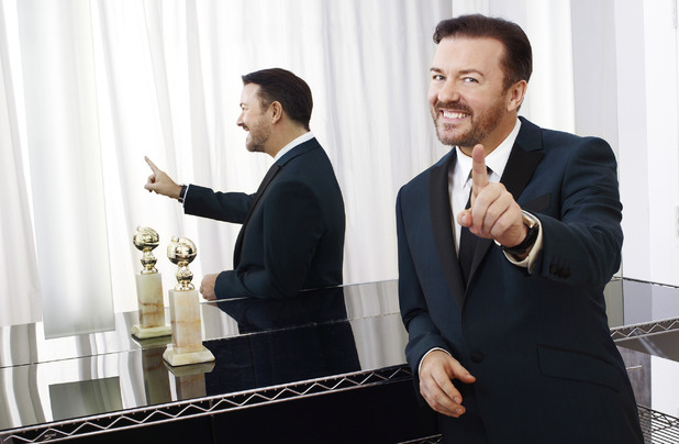 January 16: Ricky Gervais causes a stir in Hollywood as he hosts the Golden Globes