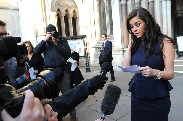 Imogen Thomas at the Royal Courts of Justice