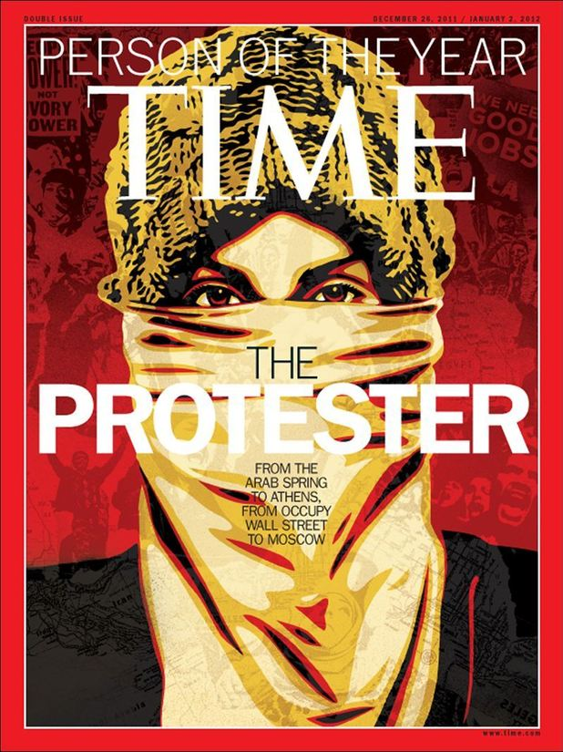 Time magazine Person of the Year cover: The Protester