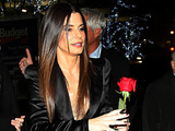 Sandra Bullock given a single red rose by a fan The New York Premiere of 'Extremely Loud and Incredibly Close' held at The Ziegfeld Theatre