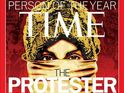 The US magazine honours the demonstrators who have dominated 2011 global events.