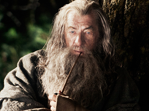Sir Ian McKellan as Gandalf  in The Hobbit: An Unexpected Journey