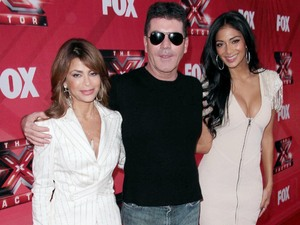 "Paula Abdul, Simon Cowell, Nicole Scherzinger FOX's ""The X Factor"" Press Conference held at the CBS Studios Los Angeles"