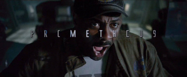 A terrified Idris Elba