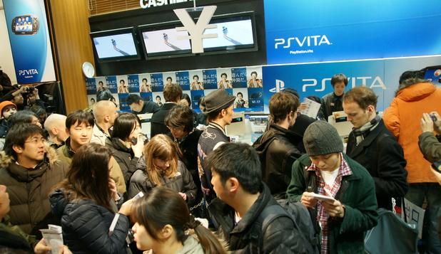 PlayStation Vita launch, Tokyo