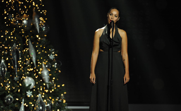 Leona Lewis performs on 'The X Factor'
