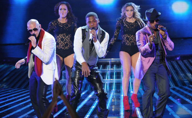 Pitbull, Marcus Canty and Ne-Yo perform