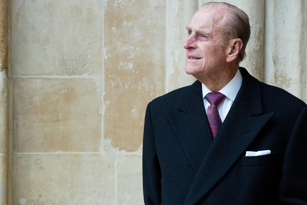 The Duke of Edinburgh looks at the assembled choir following the annual Commonwealth Day Observance Service at Westminster Abbey in London, England.